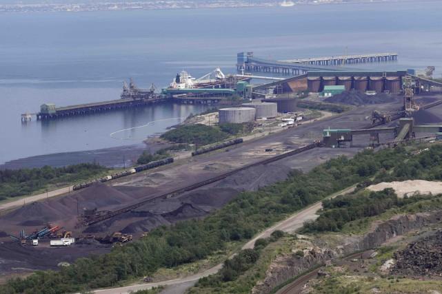 Les installations de la Société ferroviaire et portuaire... (Fournie par le Port de Sept-Îles)