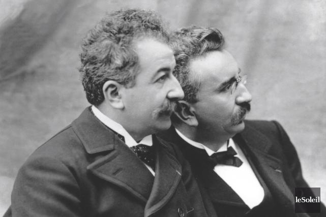 Les frères Auguste et Louis Lumière, ici en... (Archives Le Soleil)