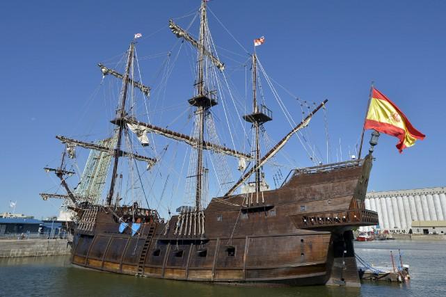 LeEl Galion Valencia, une réplique d'un navire espagnol... (Le Soleil, Yan Doublet)