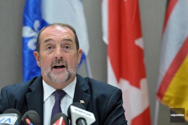 Le chef adjoint du Parti conservateur, Denis Lebel... (PHOTO Rocket Lavoie, Le Quotidien)