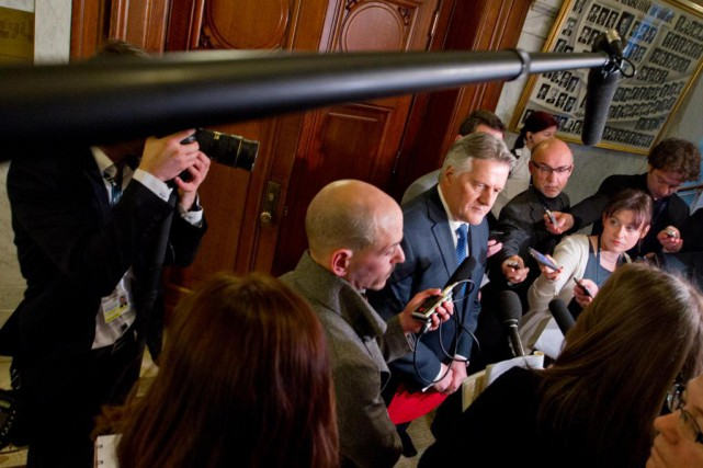 Le ministre des Transports Laurent Lessard est sur... (photo IVANOH DEMERS, archives LA PRESSE)