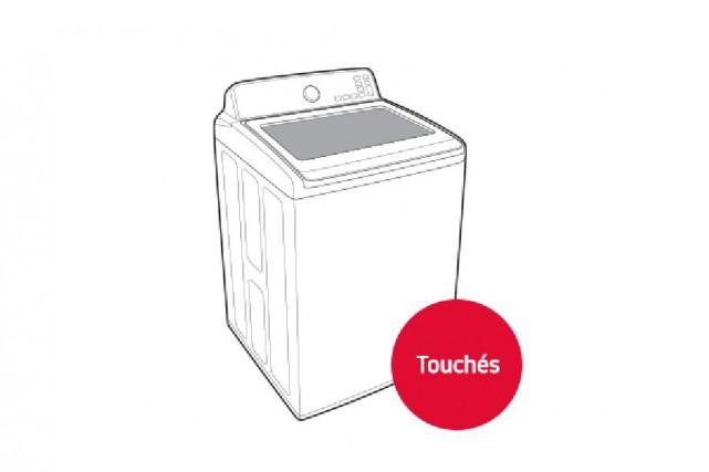 Seules les laveuses à chargement vertical sont touchées.... (Tirée du site de Samsung Canada)