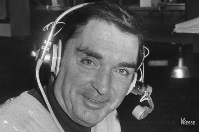 L'animateur de Lasoirée du hockey, Lionel Duval, en... (Archives La Presse, Denis Courville)
