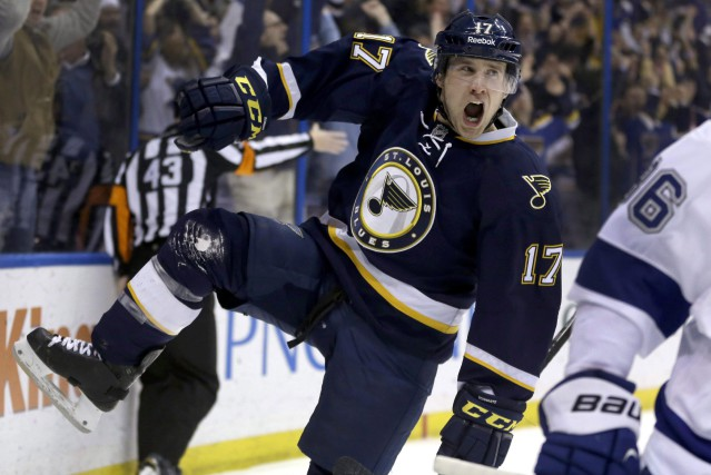 Jaden Schwartz... (Photo Jeff Roberson, archives AP)