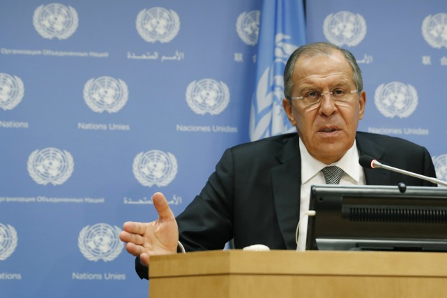 Le ministre russe des Affaires étrangères Sergeï Lavrov... (photo Mary Altaffer, archivesAP)