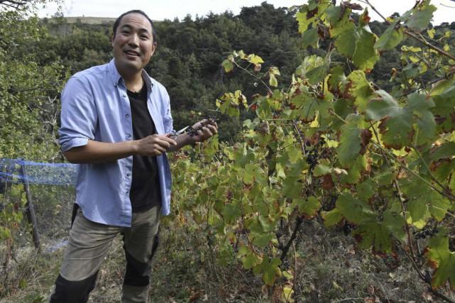 Le vigneron japonais Hirotake Ooka... (PHOTO AFP)
