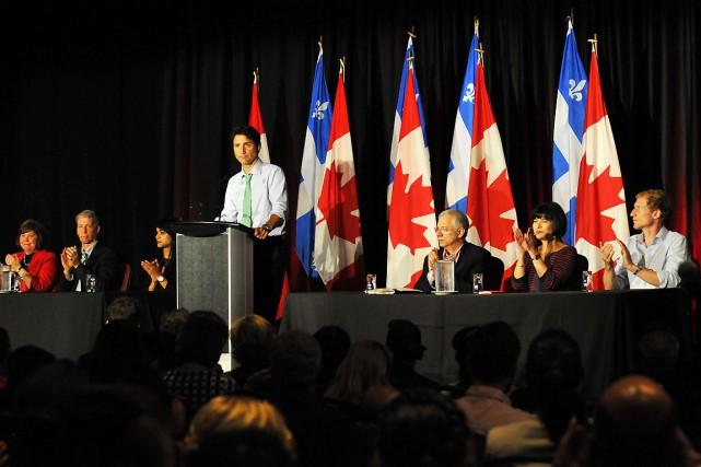Le premier ministre Justin Trudeau a pris la... (Archives Le Quotidien, Rocket Lavoie)