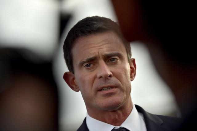 Le premier ministre français Manuel Valls... (PHOTO  LOIC VENANCE, AFP)