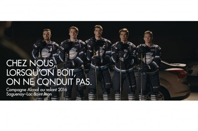 Les joueurs des Saguenéens de Chicoutimi, de la Ligue de hockey junior majeur... (Photo courtoisie, SAAQ)