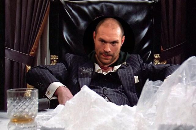Le controversé boxeur britannique Tyson Fury s'est moqué samedi sur Twitter des... (PHOTO TIRÉE DE TWITTER)