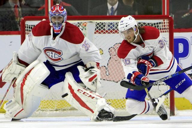 Le nouveau venu Al Montoya a dû protéger... (La Presse canadienne, Fred Chartrand)