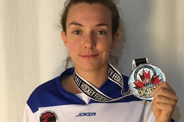 Membre de l'équipe du Québec, l'Anjeannoise Corinne Boudreault... (Courtoisie Catherine Goulet)