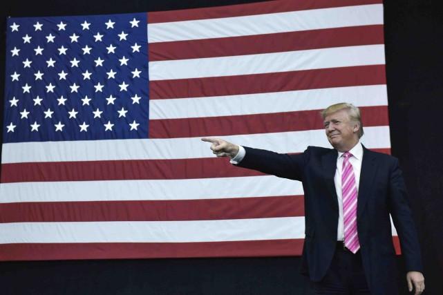 Donald Trump faisait campagne en Pennsylvanie, samedi.... (AFP, Mandel Ngan)