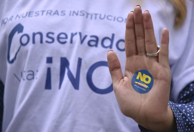 Les partisans de l'ex-président Alvaro Uribe, qui mène... (AFP, Guillermo Legaria)