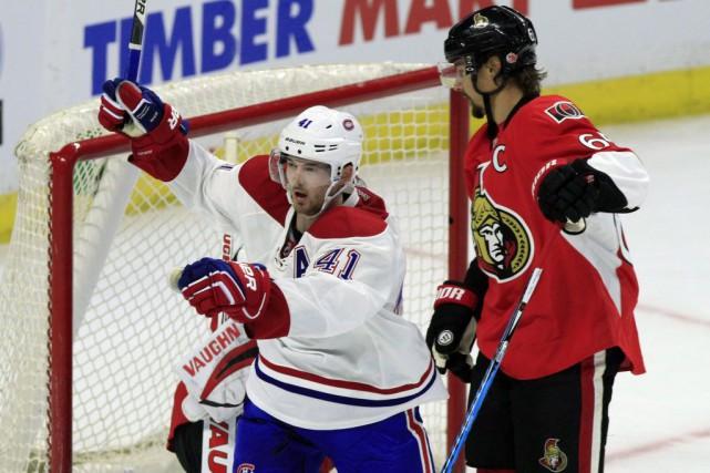 Dans la victoire de 3-2 du Canadien face... (PC, Fred Chartrand)