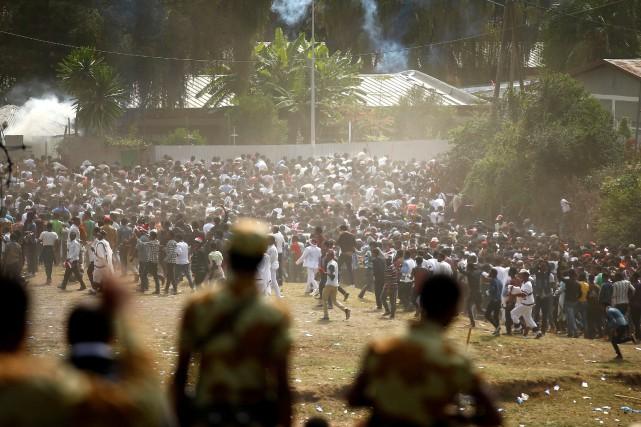 «Le festival annuel Irreecha a été perturbé par... (PHOTO TIKSA NEGERI, REUTERS)