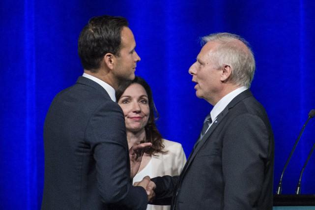 Alexandre Cloutier, Martine Ouellet et Jean-François Lisée lorsdu... (La Presse canadienne, Graham Hughes)