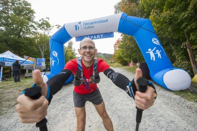 L'ultramarathonien et pédiatre intensiviste au CIUSSS de l'Estrie... (Spectre média, Julien Chamberland)