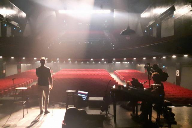 Michaël est monté sur la scène de l'Olympia... (Photo courtoisie)