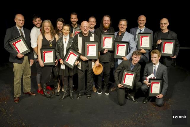 Les recipiendaires des Prix Rideau 2016... (Martin Roy, LeDroit)