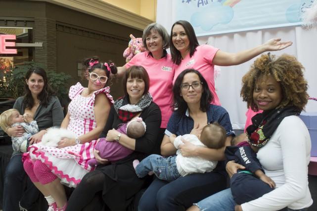 Quelques-unes des participantes du Défi allaitement: Krystine Buisson... (Stéphane Lessard)