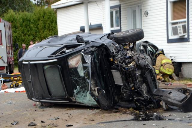 Un accident a fait de multiples blessés, dont... (Collaboration spéciale, Éric Beaupré)