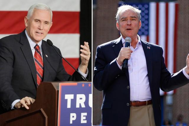 Les candidats à la vice-présidence américaine, le démocrate... (photos ap)