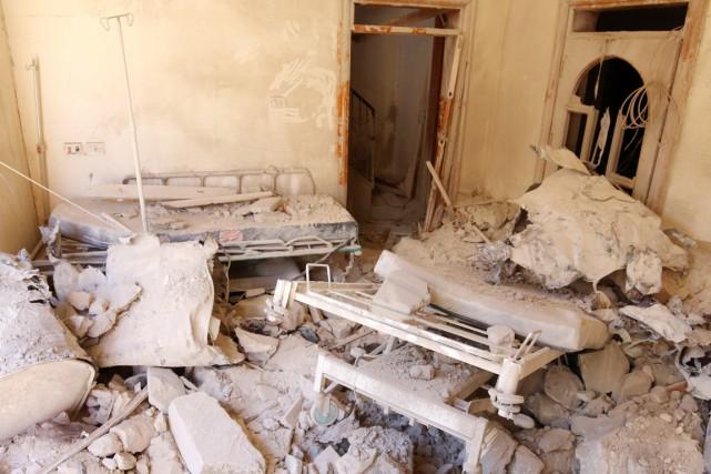 Cet hôpital de campagne (pas le M10) dans... (photo Abdalrhman Ismail, archives REUTERS)