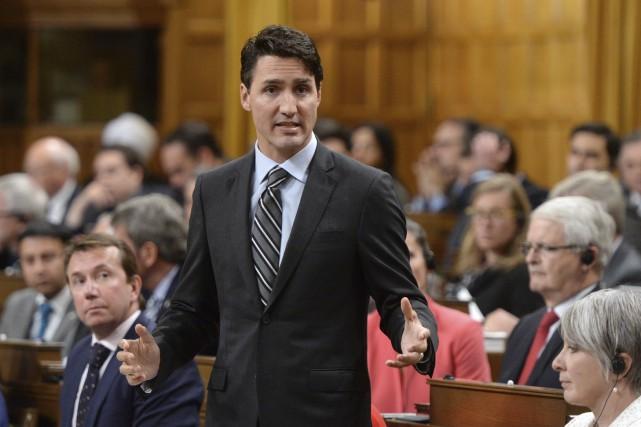 En livrant un discours aux Communes, lundi, en... (La Presse Canadienne, Sean Kilpatrick)