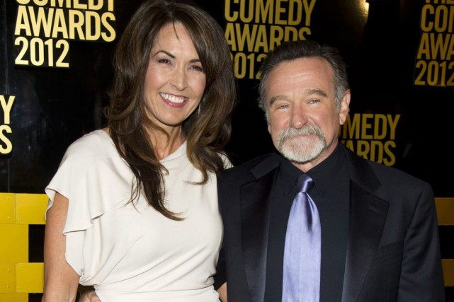 Susan Schneider Williams et Robin Williams en avril... (PHOTO ARCHIVES AP)