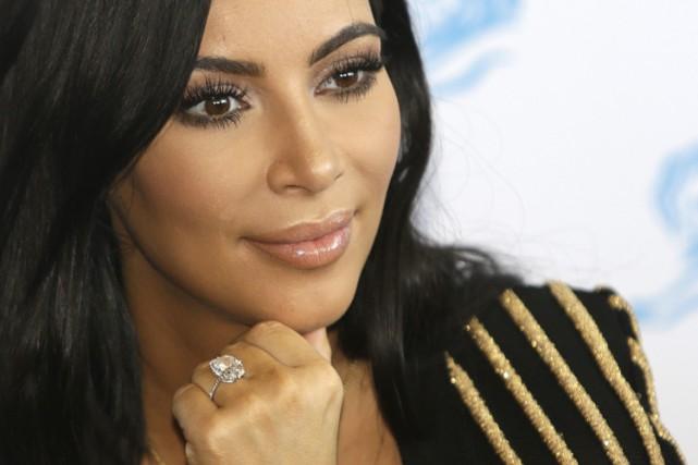 Kim Kardashian a gagné, ces trois dernières années,... (PHOTO AP)