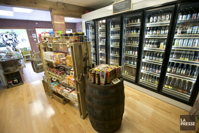 La vente d'alcool représente environ 30 % à... (La Presse, François Roy)