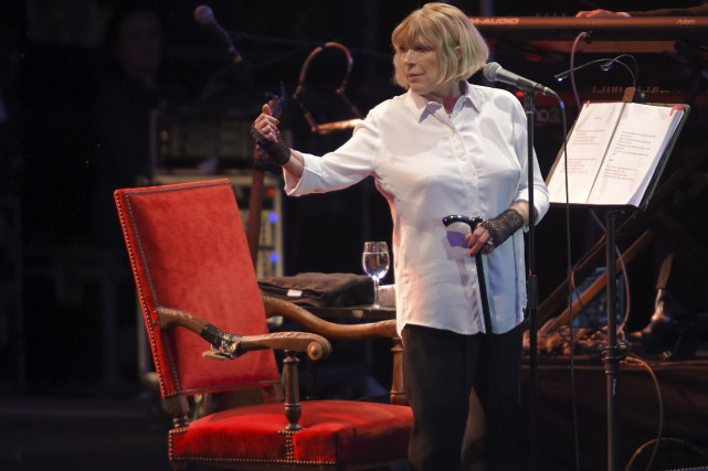 Marianne Faithfullsort de deux années difficiles marquées par... (AFP, Guillaume Souvant)