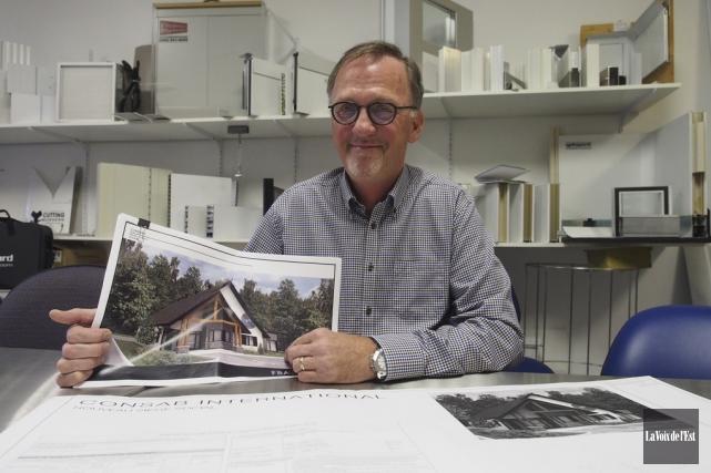 Le président fondateur de l'entreprise bromontoise, Jean-Luc Breton.... (Alain Dion, La Voix de l'Est)