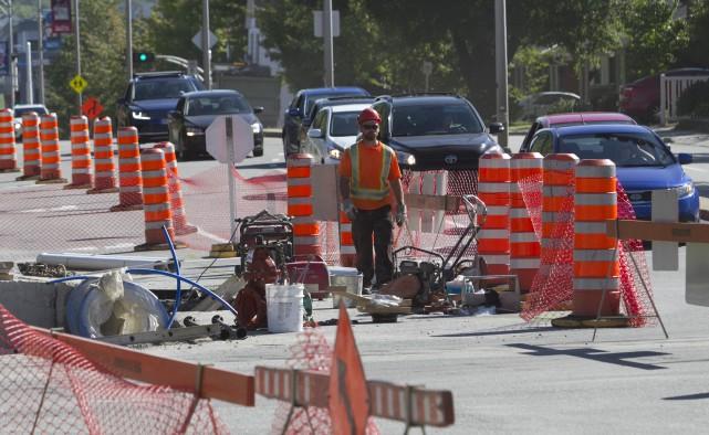 Les travaux sur le boulevard de Portland, entre... (Spectre Média, René Marquis)