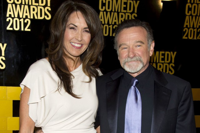 Robin Williams et sa femme Susan Schneider Williams... (AP, Charles Sykes)