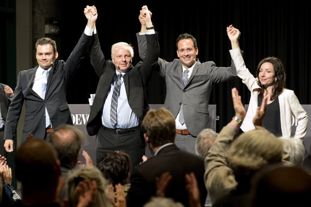 Les candidats à la direction du PQ, Paul... (PHOTO Jacques Boissinot, PC)