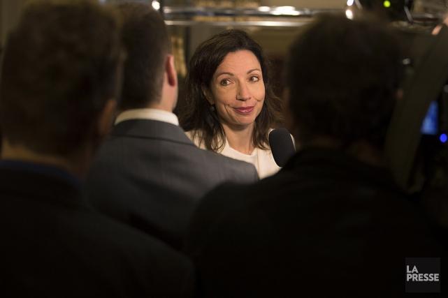 La candidate à la direction du Parti québécois... (Archives, La Presse)