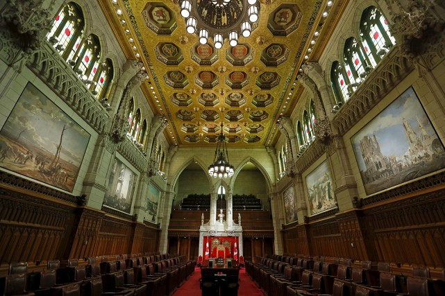 La chambre du Sénat, à Ottawa.... (Chris Wattie, archives REUTERS)