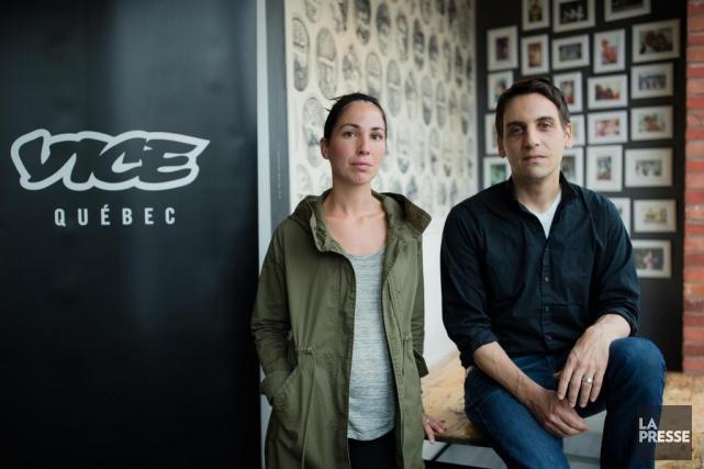 Ladirectrice générale de VICE Québec, Delphine Poux,et le... (PHOTO ÉDOUARD PLANTE-FRÉCHETTE, LA PRESSE)