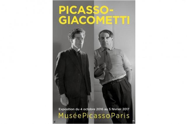 Picasso et Giacometti ont été des amis proches pendant plus de vingt ans. Ces... (AFFICHE FOURNIE PAR LE MUSE PICASSO DE PARIS)