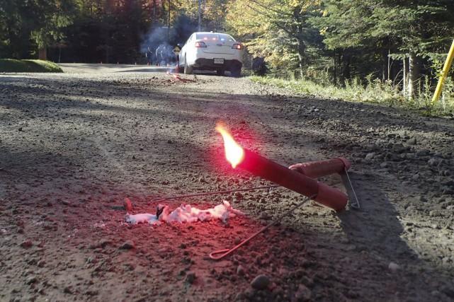 L'accident a eu lieu sur le chemin Godin,... (Collaboration spéciale)