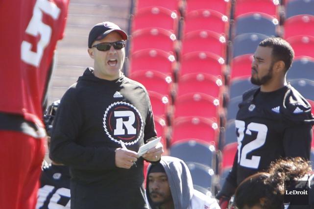 L'entraîneur-chef du Rouge et Noir d'Ottawa, Rick Campbell,... (Simon Séguin-Bertrand, LeDroit)