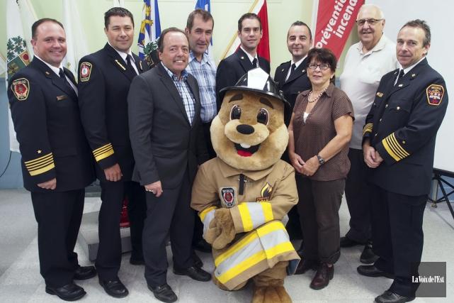 Les pompiers de la Haute-Yamaska organiseront différentes activités... (Alain Dion, La Voix de l'Est)