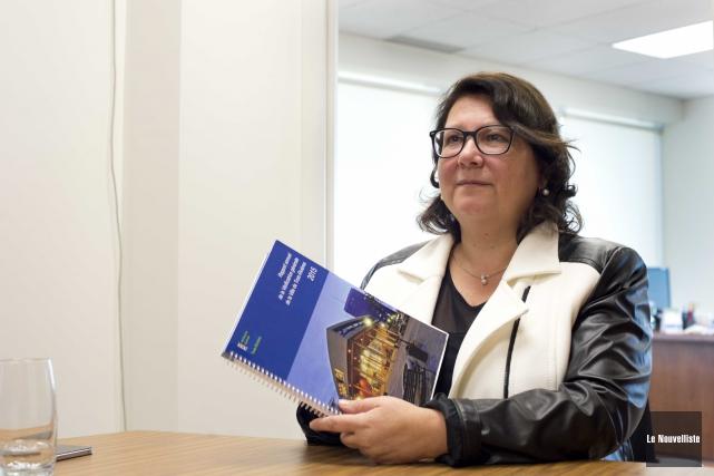 La vérificatrice générale, Andrée Cossette.... (Sylvain Mayer, Le Nouvelliste)