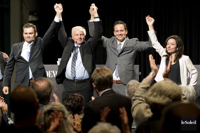 En 48 ans d'existence, avec 13 chefs depuis 1968, le Parti québécois joue... (Archives, Le Soleil)