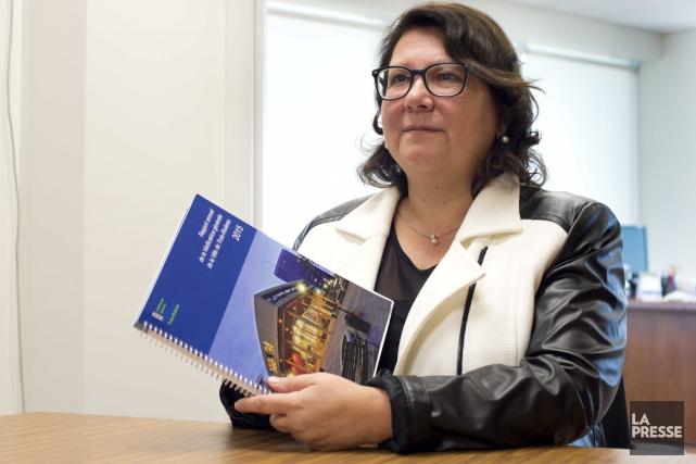 La vérificatrice générale, Andrée Cossette.... (Sylvain Mayer)