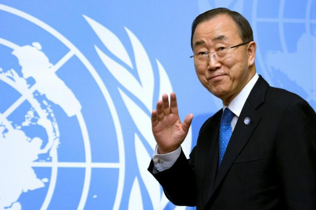 Le secrétaire général des Nations unies, Ban Ki-moon, quittera... (Photo FABRICE COFFRINI, archives Agence France-Presse)