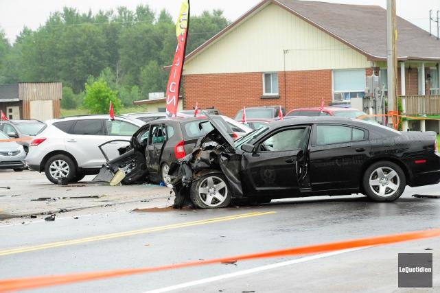 Maxime Gobeil conduisait une voiture semi-balisée le 18... (Photo archives Le Quotidien, Gimmy Desbiens)