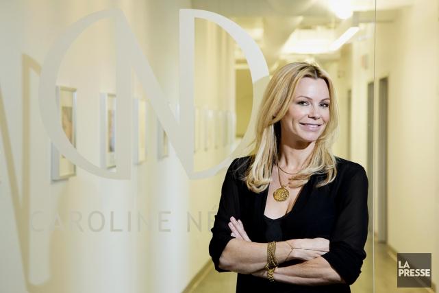 L'ex-actrice Caroline Néron a créé son entreprise de... (Photo Alain Roberge, La Presse)